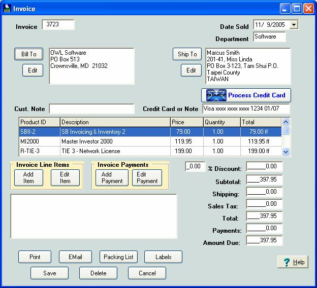 Simple Business Invoicing And Inventory - Invoice software with inventory