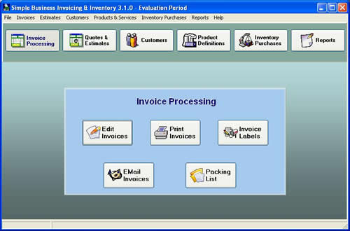 Simple Business Invoicing And Inventory - Invoice and estimate software free